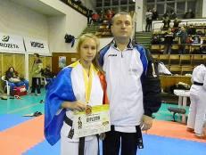 Alături de antrenorul său, Mihai Turla