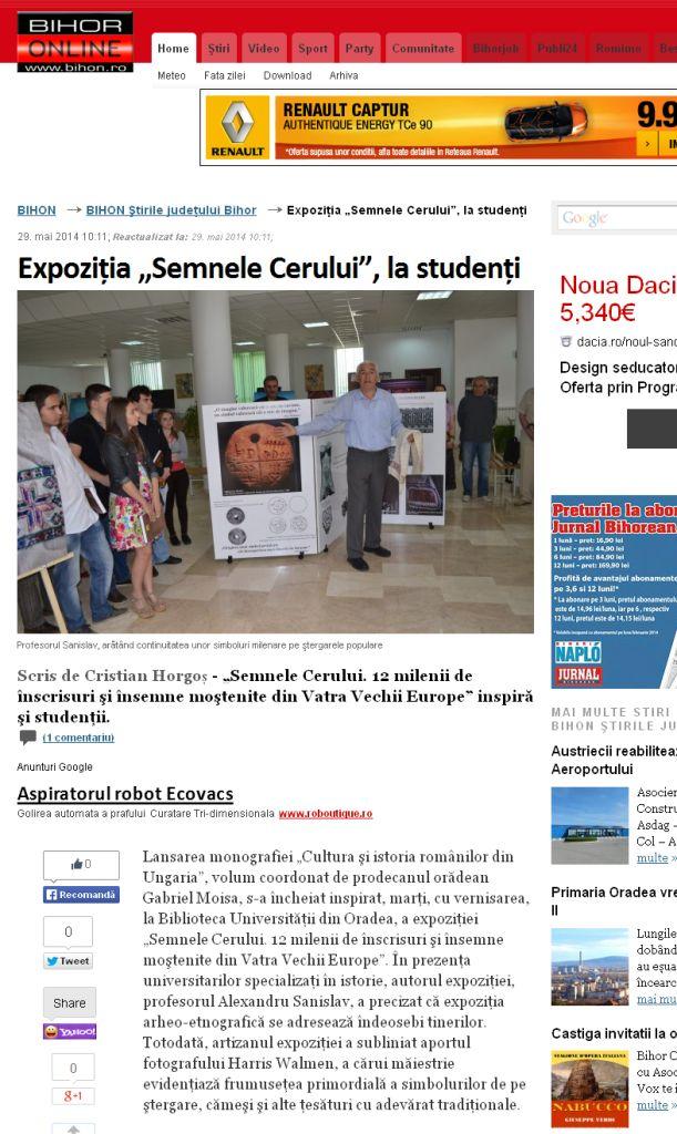 """Expoziţia """"Semnele Cerului"""", la studenţi - BIHON 2014-05-30 00-49-45"""