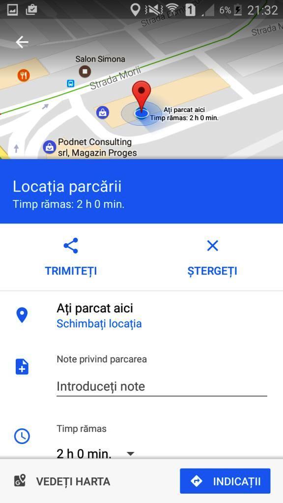 Google Maps te ajută să îţi aminteşti unde ai parcat maşina- Bealcovschi Bianca WEB
