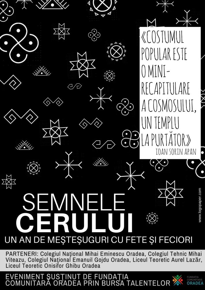 afis Semnele Cerului - prof. Al. Sanislav