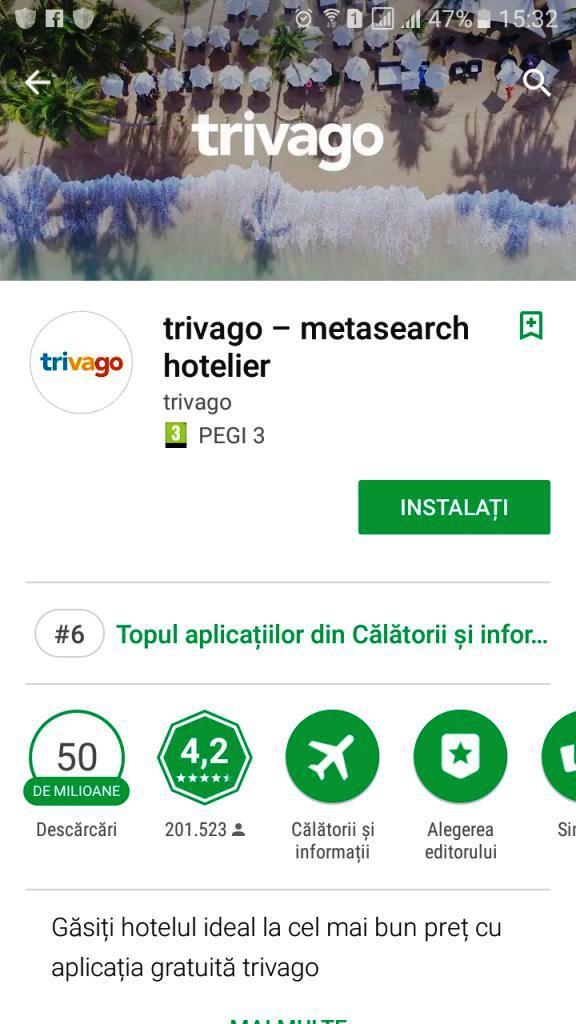 Aplicatia Trivago