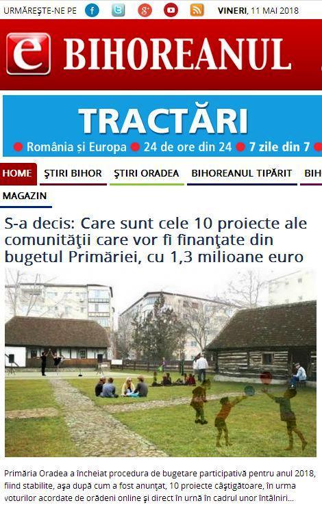 Bihoreanul ştiri din Oradea şi judeţul Bihor eBihoreanul.ro