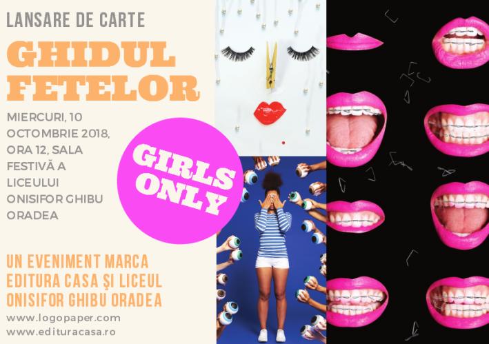 invitatie lansare Ghidul fetelor