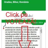 Votează proiectul liceului nostru înscris pe Țara lui Andrei!