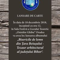 Lansarea albumului «Bisericile de Lemn din Țara Beiușului. Tezaur Arhitectural al Județului Bihor»
