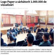 Logo Paper a sărbătorit 1.000.000 de vizualizări BIHON