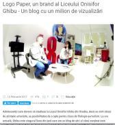 Logo Paper un brand al Liceului Onisifor Ghibu Un blog cu un milion de vizualizări
